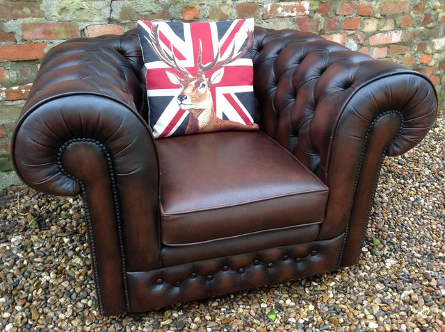 Image 8 of Chesterfield armchairs. Queen Anne & club style. Can deliver