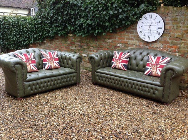 Image 9 of Chesterfield armchairs. Queen Anne & club style. Can deliver