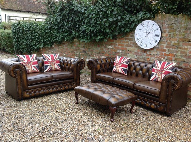 Image 10 of Chesterfield armchairs. Queen Anne & club style. Can deliver