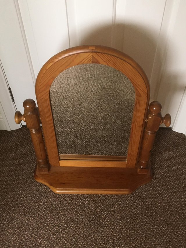 Image 2 of Ducal Pine Dressing Table Tilting Mirror