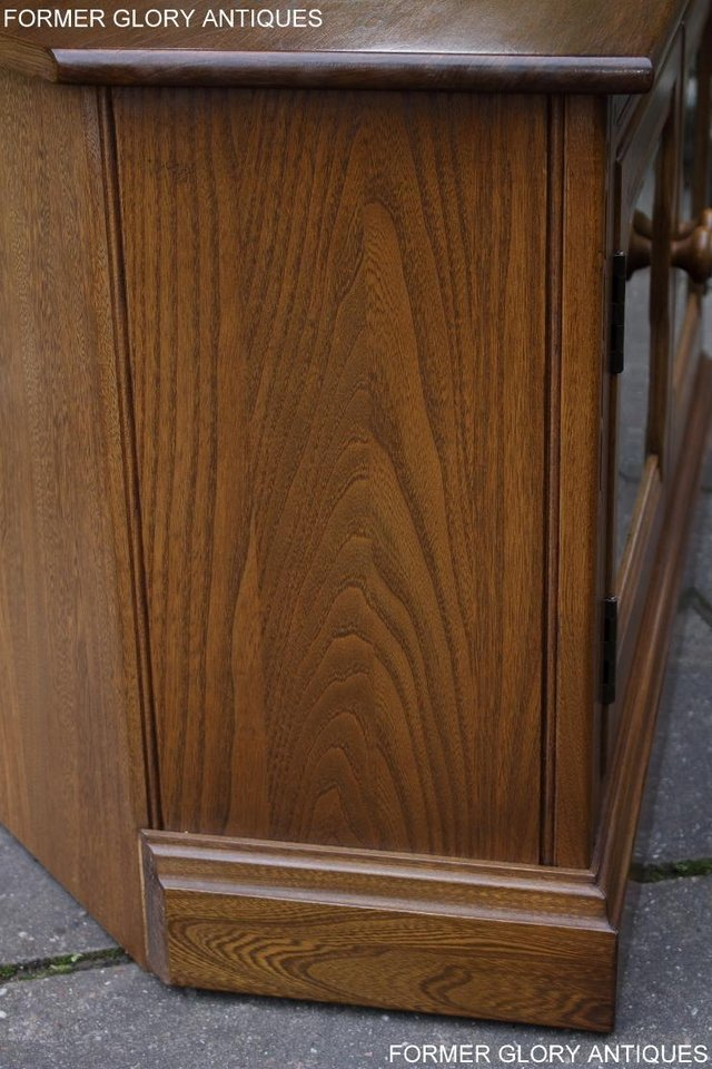 Image 5 of AN ERCOL GOLDEN DAWN CORNER TV CABINET DVD STAND TABLE UNIT