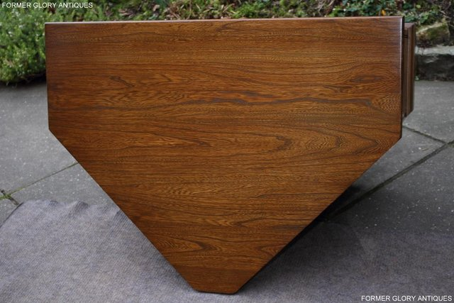 Image 21 of AN ERCOL GOLDEN DAWN CORNER TV CABINET DVD STAND TABLE UNIT