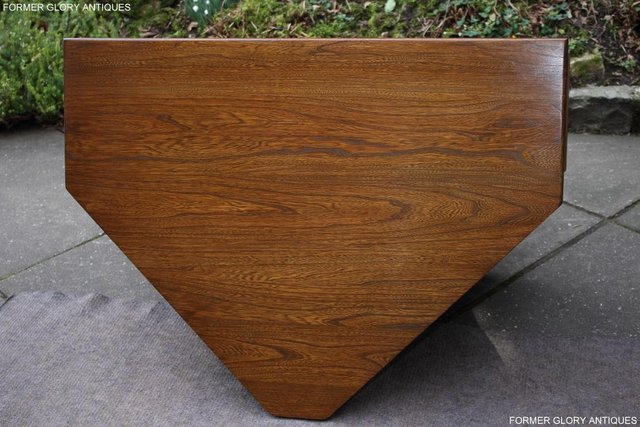 Image 46 of AN ERCOL GOLDEN DAWN CORNER TV CABINET DVD STAND TABLE UNIT