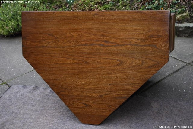Image 63 of AN ERCOL GOLDEN DAWN CORNER TV CABINET DVD STAND TABLE UNIT