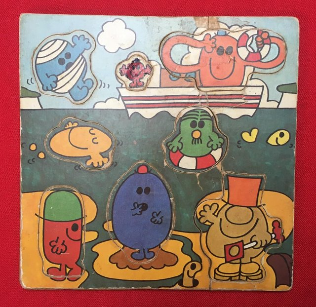 Preview of the first image of Vintage 1970's Mr Men tray puzzle..