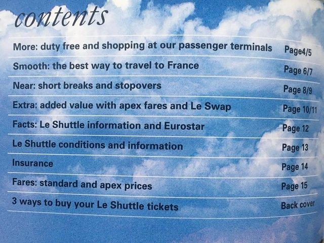 Image 2 of Vintage 1996 le Shuttle guide/leaflets + Eurostar leaflets.