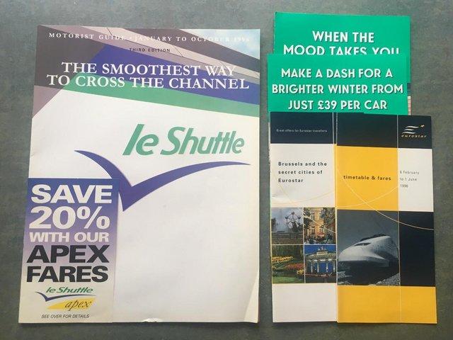Preview of the first image of Vintage 1996 le Shuttle guide/leaflets + Eurostar leaflets..