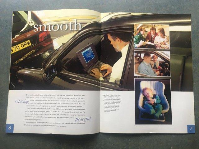 Image 3 of Vintage 1996 le Shuttle guide/leaflets + Eurostar leaflets.