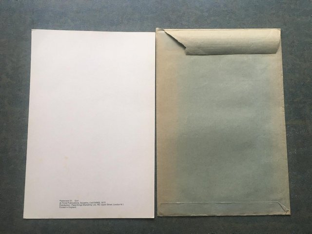 Image 2 of Unused vintage 1972 Postercard 31 Owl, Portal Publs,envelope