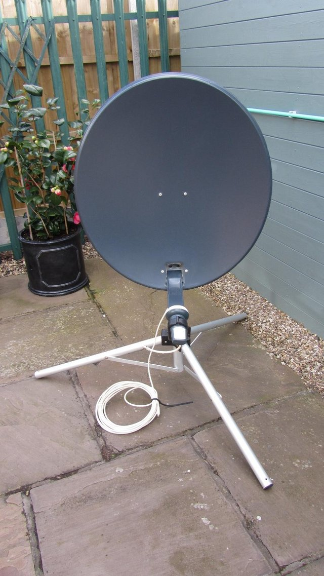Preview of the first image of Satellite Dish and Tripod Stand.