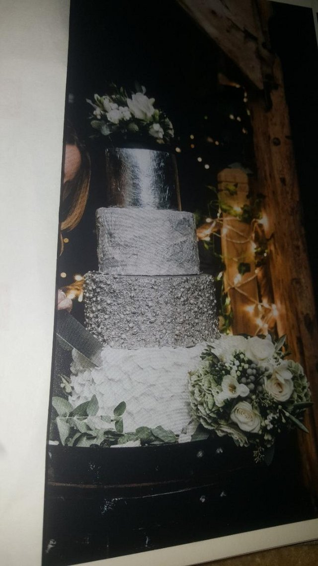 Preview of the first image of Homemade false 3 tier Silver Wedding Cake.