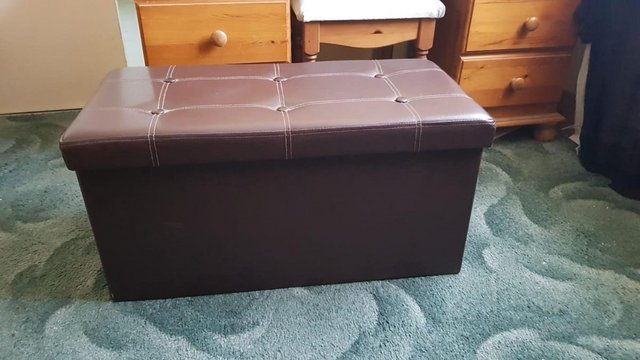Preview of the first image of Folding Storage Ottoman Storage Chest / Seat - Chatham.