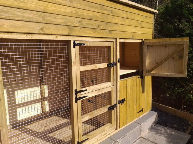 Image 3 of Hand made 10ft x 4ft x 5ft6'' ferret house and run