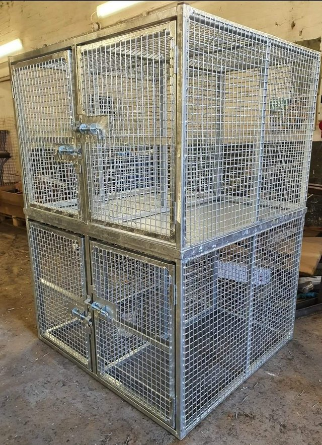 Image 16 of Top quality steel fabricated kennels/catteries/cages/runs