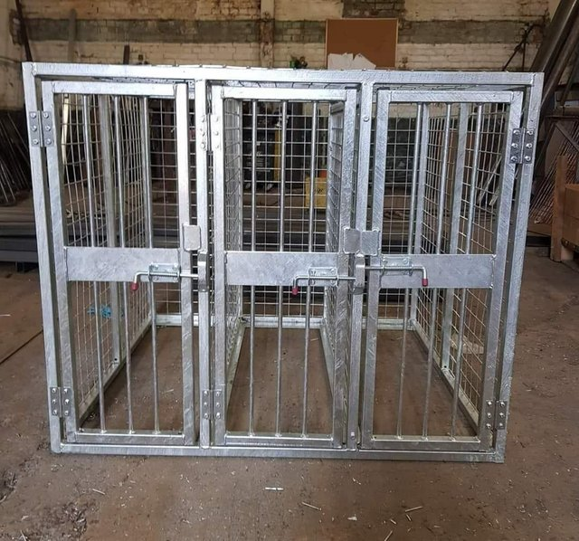 Image 24 of Top quality steel fabricated kennels/catteries/cages/runs