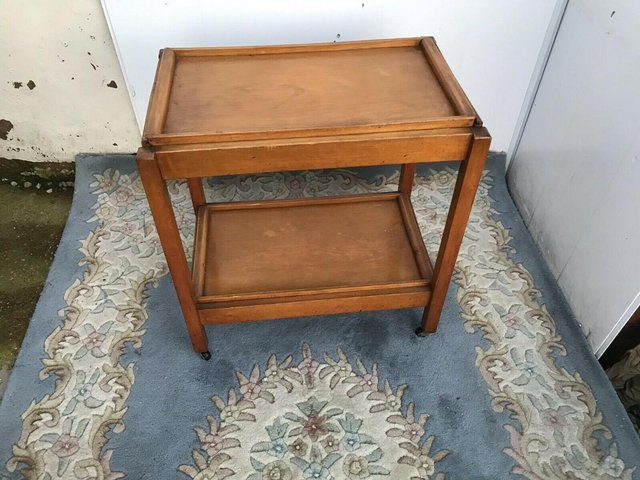 Preview of the first image of 1920's Tea Two Tier Trolley Rare Fold Away.