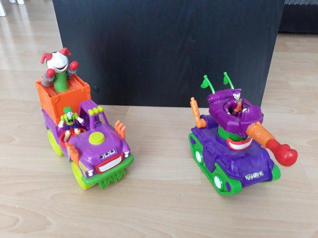 Preview of the first image of Imaginext Joker Vehicles.