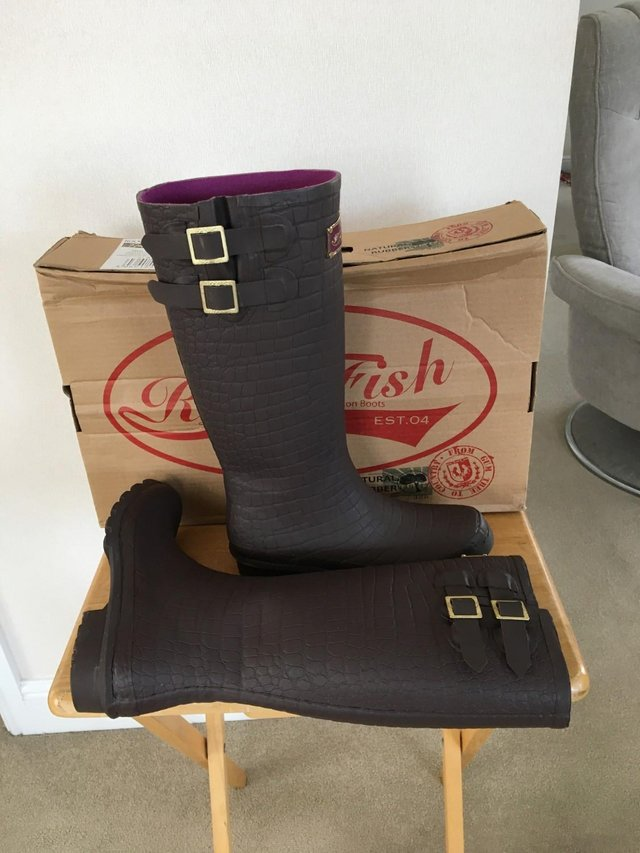 Preview of the first image of AS NEW! - Rock Fish High Quality - Wellington Boots.