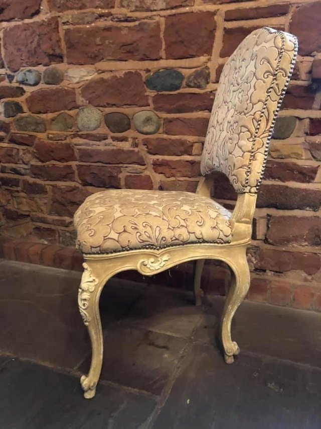 Preview of the first image of Vintage Italian Chair in Crushed Velvet x2.