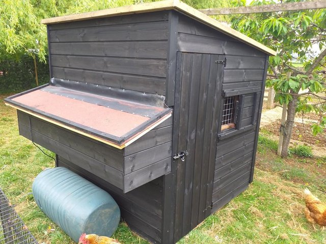 Preview of the first image of hand made 6' x 6' chicken coop.