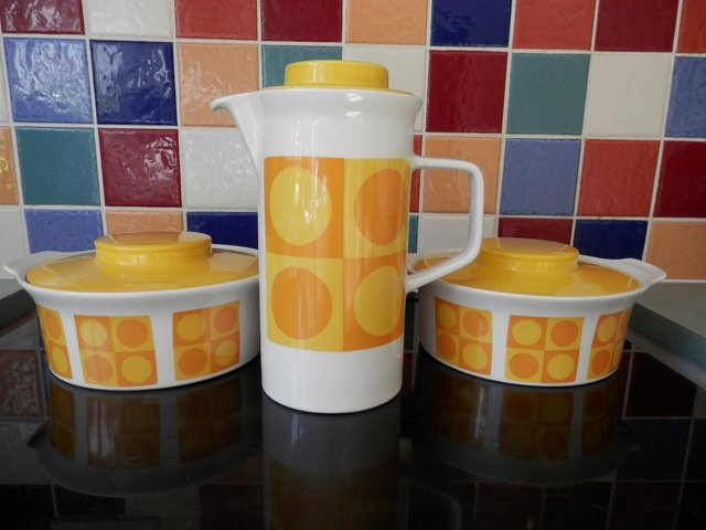 Preview of the first image of Retro Sunny Yellow Table Ware.