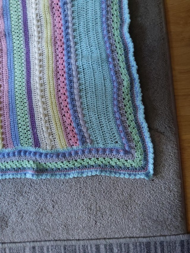 Preview of the first image of CROCHET COT BLANKET.