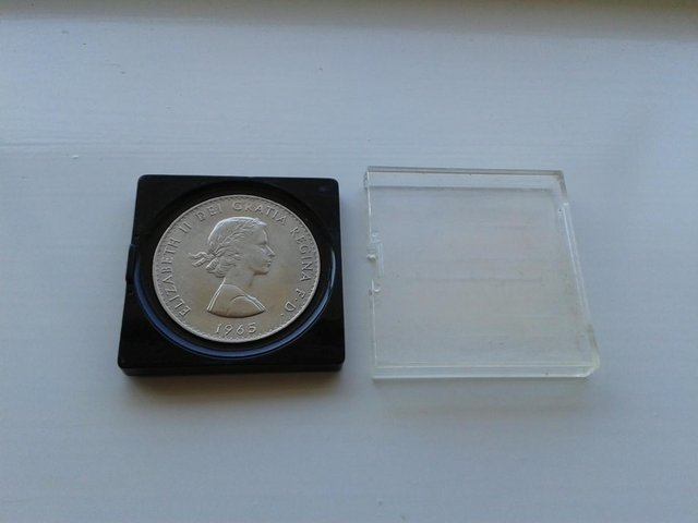 Image 2 of 1965 Great Britain Crown Coin KM# 910 (aFDC)