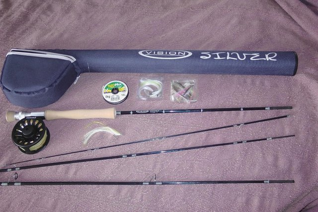 Preview of the first image of Vision Silver Fly Fishing Rig.