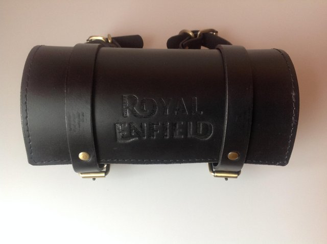 Preview of the first image of Royal Enfield 10 inch heavy duty leather. tool pouch.