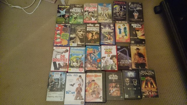 Preview of the first image of Joblot of prerecorded video films.