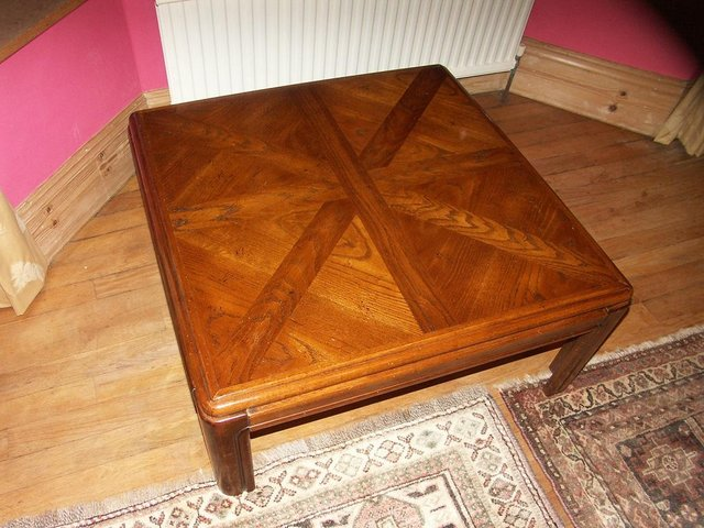 Image 3 of Large Solid Oak Coffee