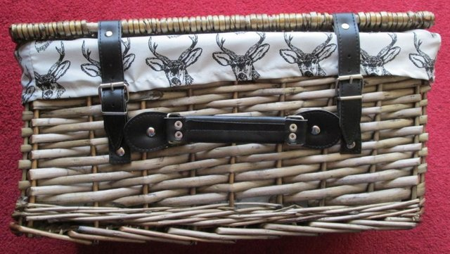 Image 2 of WICKER BASKET, F/LINED, BRAND NEW
