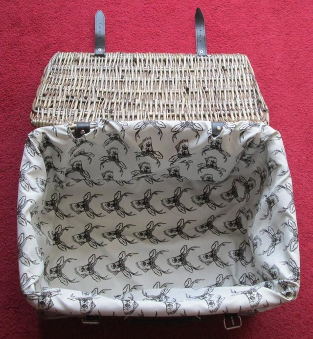 Image 3 of WICKER BASKET, F/LINED, BRAND NEW
