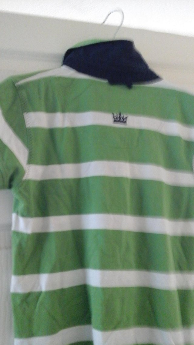 Preview of the first image of LAZY JACKS STRIPED T SHIRT.