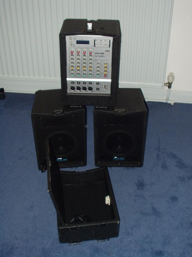 Preview of the first image of PULSE PA 150 MP3 Portable PA System.