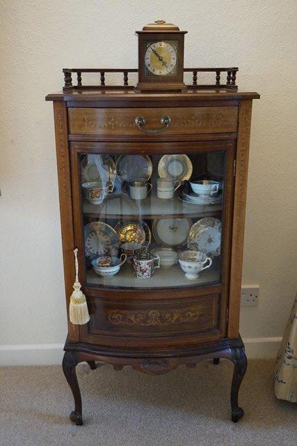 Preview of the first image of Edwardian, Antique, Mahogany, Glazed, Display Cabinet.