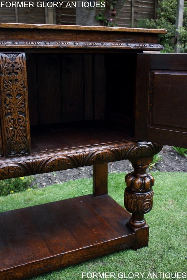 Image 7 of A TITCHMARSH AND GOODWIN CARVED OAK DRESSER BASE SIDEBOARD