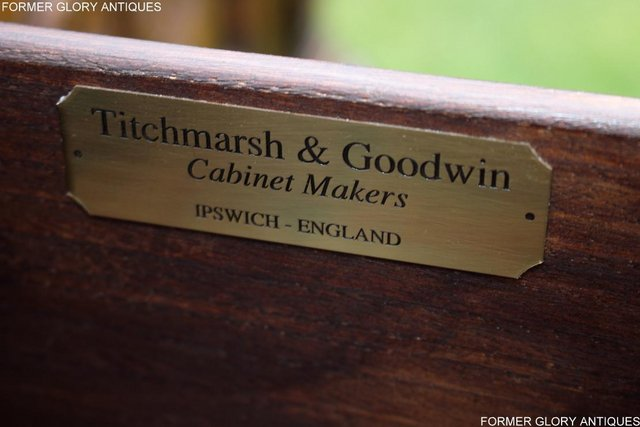 Image 8 of A TITCHMARSH AND GOODWIN CARVED OAK DRESSER BASE SIDEBOARD