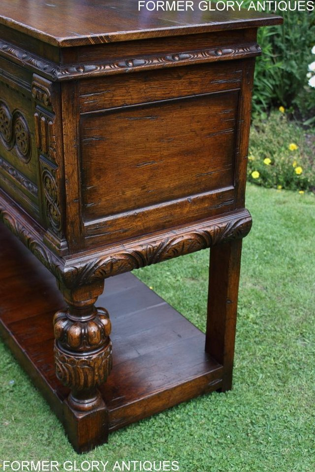 Image 21 of A TITCHMARSH AND GOODWIN CARVED OAK DRESSER BASE SIDEBOARD