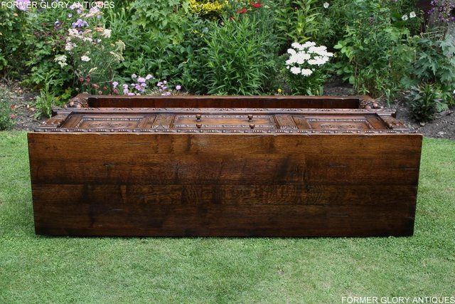 Image 35 of A TITCHMARSH AND GOODWIN CARVED OAK DRESSER BASE SIDEBOARD