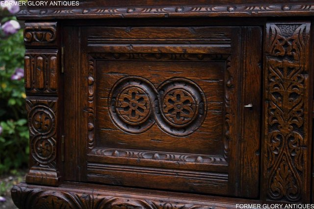 Image 65 of A TITCHMARSH AND GOODWIN CARVED OAK DRESSER BASE SIDEBOARD