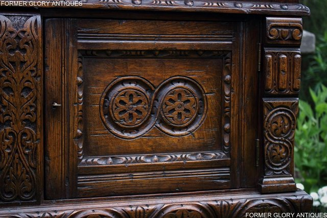 Image 78 of A TITCHMARSH AND GOODWIN CARVED OAK DRESSER BASE SIDEBOARD