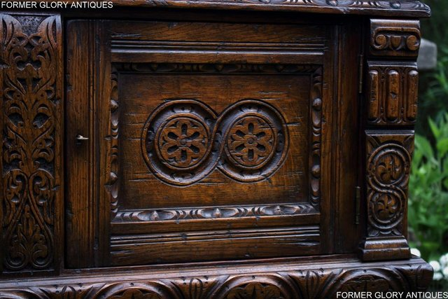 Image 92 of A TITCHMARSH AND GOODWIN CARVED OAK DRESSER BASE SIDEBOARD