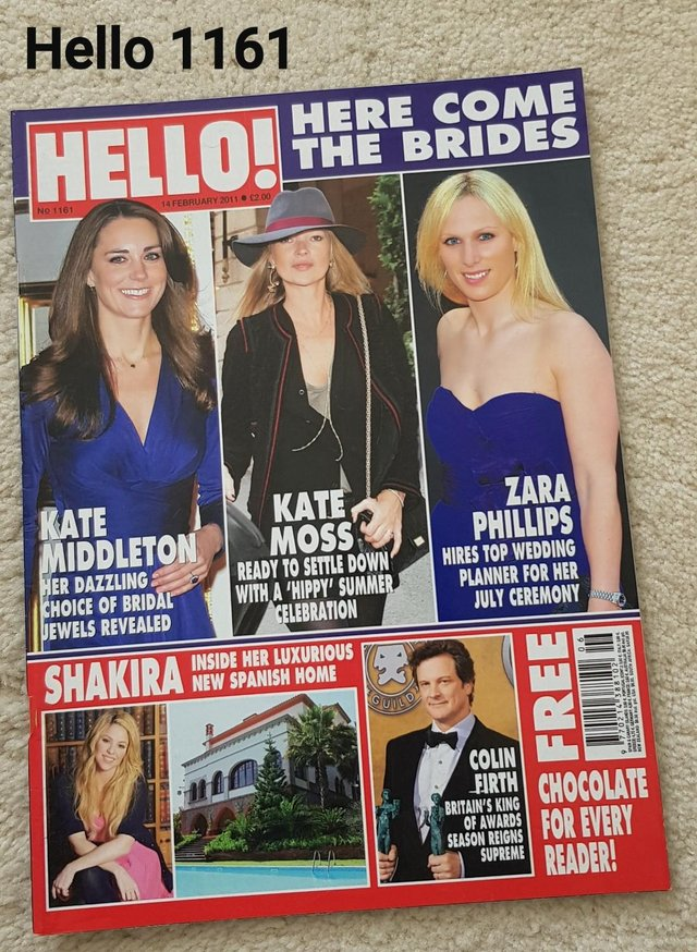 Preview of the first image of Hello Magazine 1161 - Here Comes the Brides.