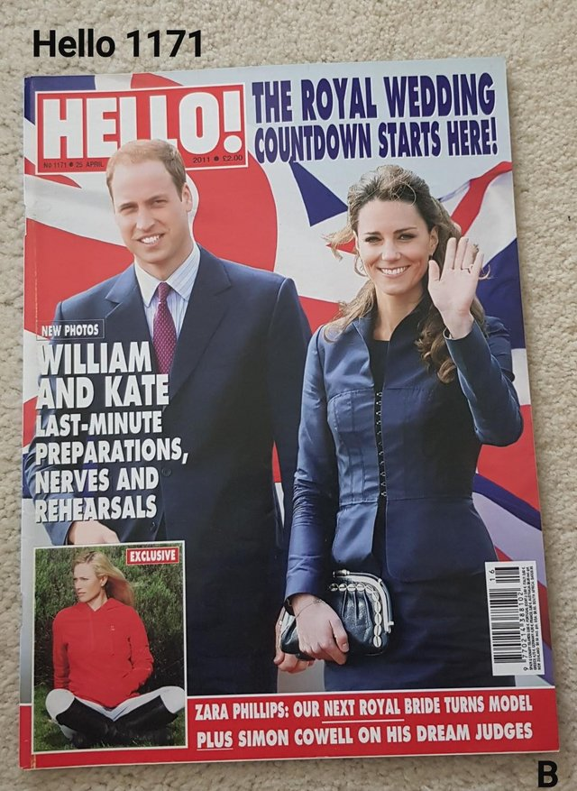 Preview of the first image of Hello Magazine 1171 - The Royal Wedding - Countdown Starts.