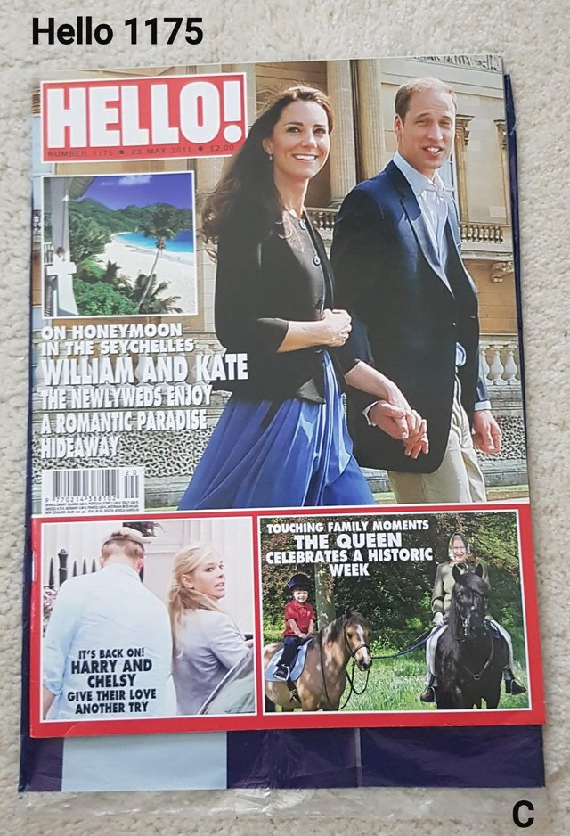 Preview of the first image of Hello Magazine 1175 - William & Kate on Honeymoon..