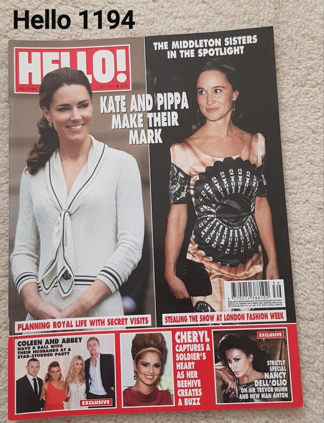 Preview of the first image of Hello Magazine 1194 - The Middleton Sisters in the Spotlight.