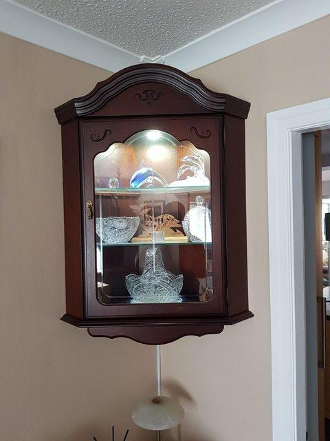Preview of the first image of Mahogany Corner Wall Display Cabinets.