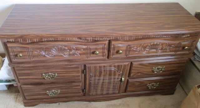 Image 2 of Bedroom Chest/Unit, ornate/carved, USA Made, vgc