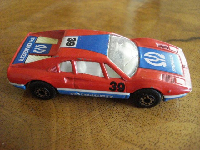 Preview of the first image of RARE VINTAGE DIECAST MODEL MATCHBOX RED FERRARI 308 GTB 70.